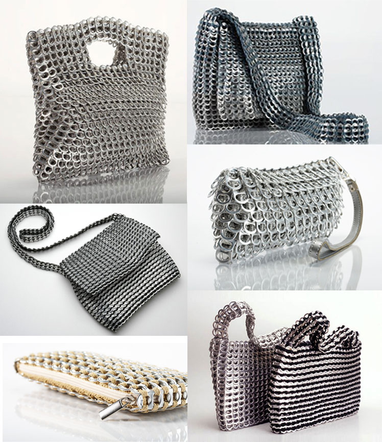ejemplos de bolsos fabricados con la reutilización de otros objetos