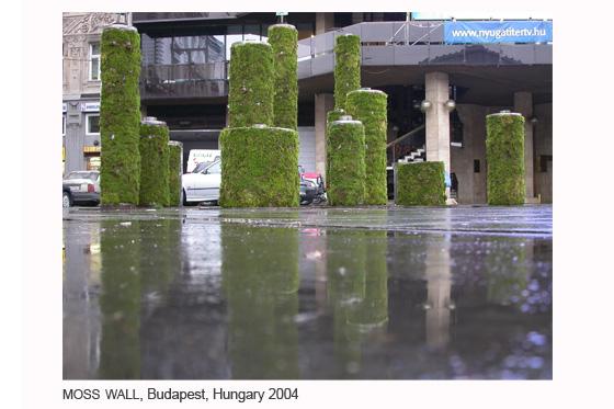 Muro de musgo, Budapest, Hungría, 2004